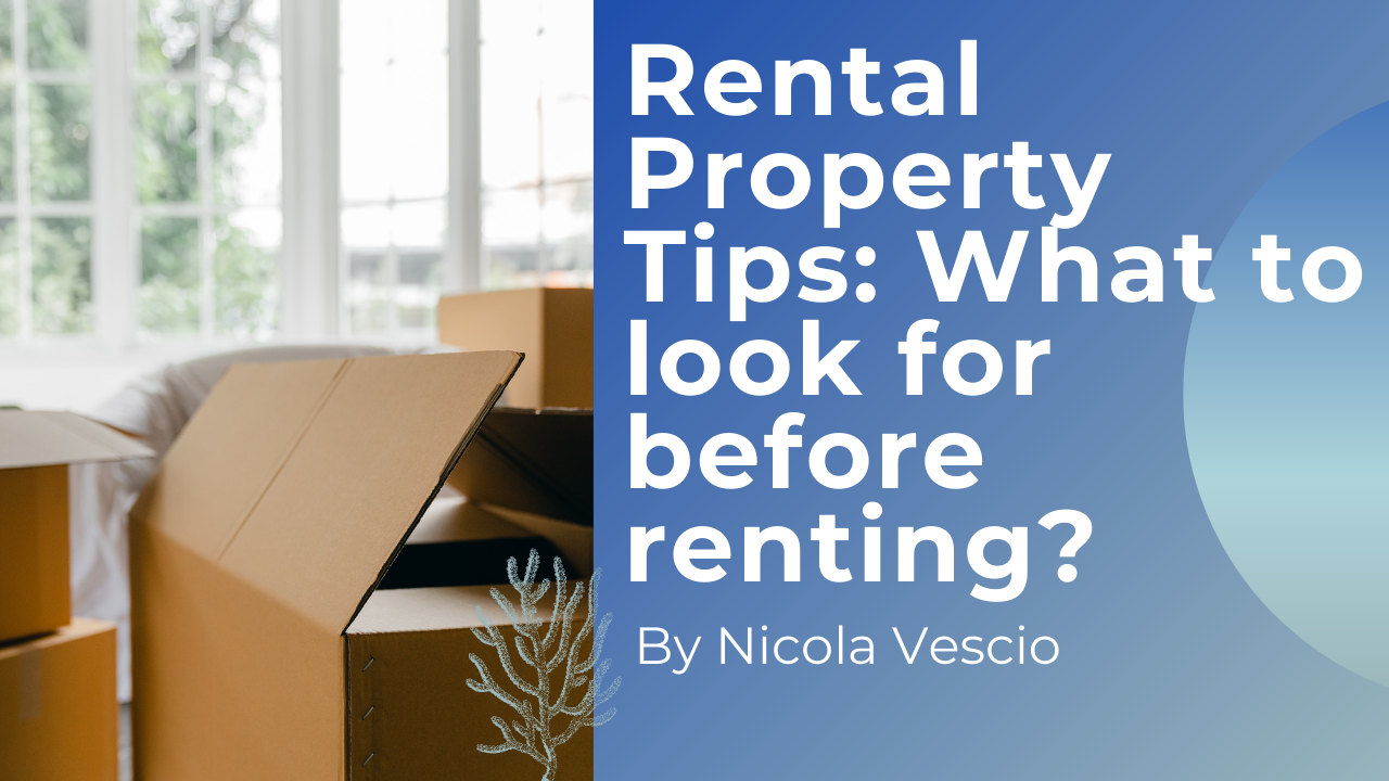 Rental Property Tips: What to look for before renting? - Nicola Domenic Vescio